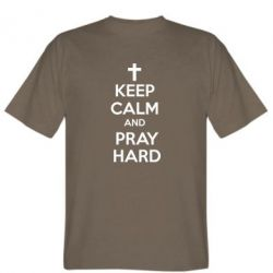 Мужская футболка KEEP CALM and PRAY HARD - FatLine