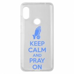 Чехол для Xiaomi Redmi Note 6 Pro KEEP CALM AND PRAY ON