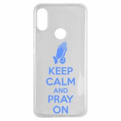 Чехол для Xiaomi Redmi Note 7 KEEP CALM AND PRAY ON
