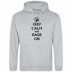 Толстовка KEEP CALM and RAGE ON - FatLine