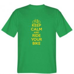 Мужская футболка KEEP CALM AND RIDE YOUR BIKE - FatLine