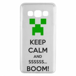 Чехол для Samsung A3 2015 Keep calm and ssssssss...BOOM!