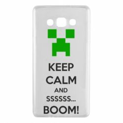 Чехол для Samsung A7 2015 Keep calm and ssssssss...BOOM!