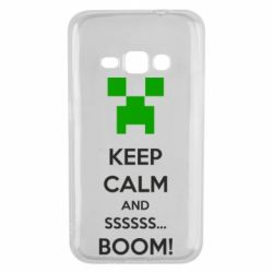 Чехол для Samsung J1 2016 Keep calm and ssssssss...BOOM!