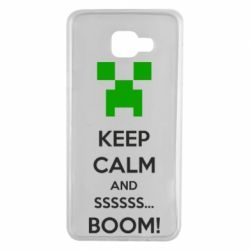 Чехол для Samsung A7 2016 Keep calm and ssssssss...BOOM!