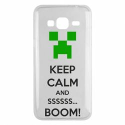 Чехол для Samsung J3 2016 Keep calm and ssssssss...BOOM!