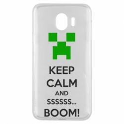 Чехол для Samsung J4 Keep calm and ssssssss...BOOM!