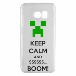 Чехол для Samsung S6 EDGE Keep calm and ssssssss...BOOM!