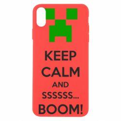 Чохол для iPhone Xs Max Keep calm and ssssssss...BOOM!