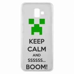 Чехол для Samsung J6 Plus 2018 Keep calm and ssssssss...BOOM!