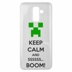 Чехол для Samsung J8 2018 Keep calm and ssssssss...BOOM!