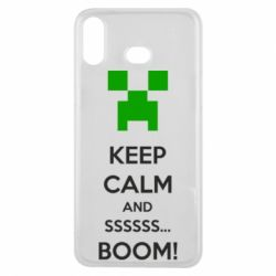 Чехол для Samsung A6s Keep calm and ssssssss...BOOM!