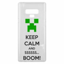 Чехол для Samsung Note 9 Keep calm and ssssssss...BOOM!