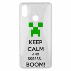 Чехол для Xiaomi Mi Max 3 Keep calm and ssssssss...BOOM!