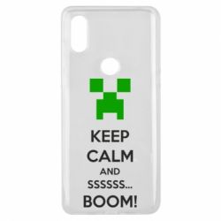 Чехол для Xiaomi Mi Mix 3 Keep calm and ssssssss...BOOM!