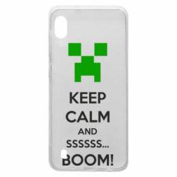 Чехол для Samsung A10 Keep calm and ssssssss...BOOM!