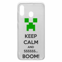 Чехол для Samsung A30 Keep calm and ssssssss...BOOM!