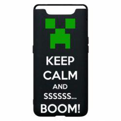 Чохол для Samsung A80 Keep calm and ssssssss...BOOM!