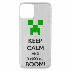 Чехол для iPhone 11 Keep calm and ssssssss...BOOM!