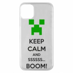 Чехол для iPhone 11 Pro Keep calm and ssssssss...BOOM!