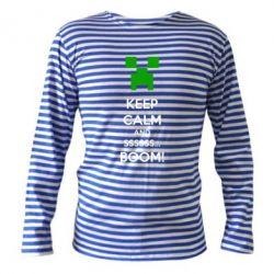 Тельняшка с длинным рукавом Keep calm and ssssssss...BOOM! - FatLine