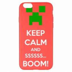 Чехол для iPhone 6 Plus/6S Plus Keep calm and ssssssss...BOOM!