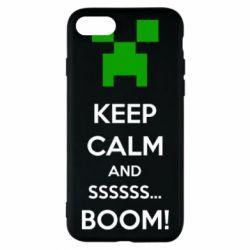 Чохол для iPhone 7 Keep calm and ssssssss...BOOM!