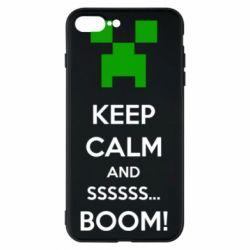 Чохол для iPhone 7 Plus Keep calm and ssssssss...BOOM!