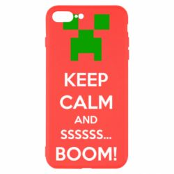 Чехол для iPhone 8 Plus Keep calm and ssssssss...BOOM!