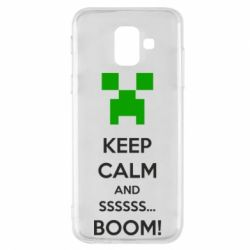 Чехол для Samsung A6 2018 Keep calm and ssssssss...BOOM!