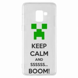 Чехол для Samsung A8+ 2018 Keep calm and ssssssss...BOOM!