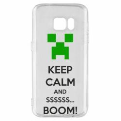 Чехол для Samsung S7 Keep calm and ssssssss...BOOM!