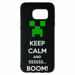 Чехол для Samsung S7 EDGE Keep calm and ssssssss...BOOM!
