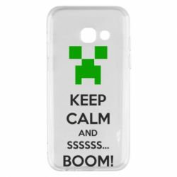 Чохол для Samsung A3 2017 Keep calm and ssssssss...BOOM!