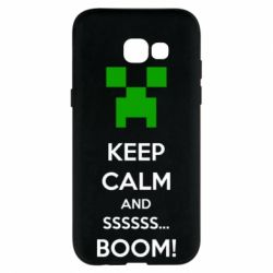 Чехол для Samsung A5 2017 Keep calm and ssssssss...BOOM!