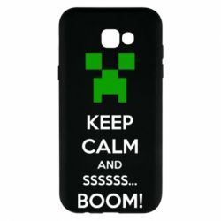 Чехол для Samsung A7 2017 Keep calm and ssssssss...BOOM!