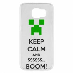 Чехол для Samsung S6 Keep calm and ssssssss...BOOM!