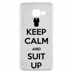 Чехол для Samsung A3 2016 Keep Calm and suit up!