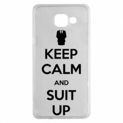 Чехол для Samsung A5 2016 Keep Calm and suit up!