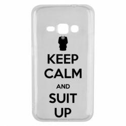 Чехол для Samsung J1 2016 Keep Calm and suit up!