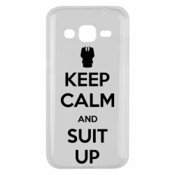 Чехол для Samsung J2 2015 Keep Calm and suit up!