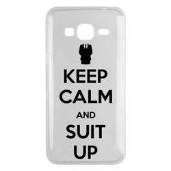 Чехол для Samsung J3 2016 Keep Calm and suit up!