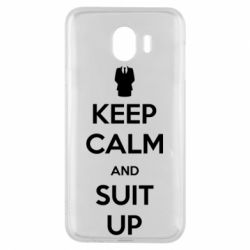 Чехол для Samsung J4 Keep Calm and suit up!