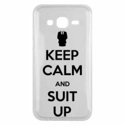 Чехол для Samsung J5 2015 Keep Calm and suit up!