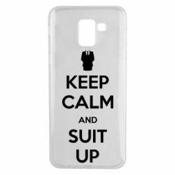 Чехол для Samsung J6 Keep Calm and suit up!