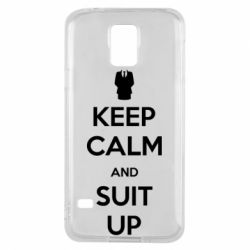 Чехол для Samsung S5 Keep Calm and suit up!