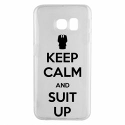 Чехол для Samsung S6 EDGE Keep Calm and suit up!