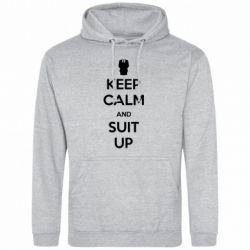 Мужская толстовка Keep Calm and suit up!