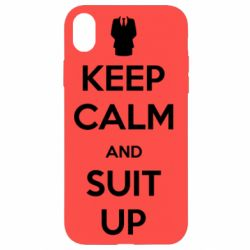 Чехол для iPhone XR Keep Calm and suit up!
