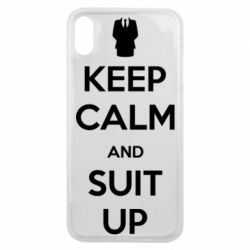 Чехол для iPhone Xs Max Keep Calm and suit up!